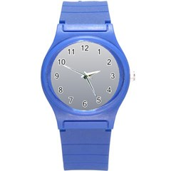 Gainsboro To Roman Silver Gradient Plastic Sport Watch (small) by BestCustomGiftsForYou