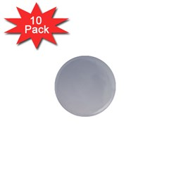 Roman Silver To Gainsboro Gradient 1  Mini Button Magnet (10 Pack) by BestCustomGiftsForYou