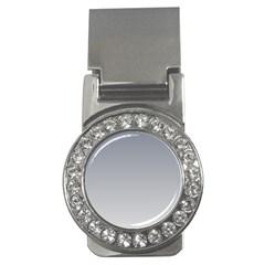 Roman Silver To Gainsboro Gradient Money Clip (cz) by BestCustomGiftsForYou