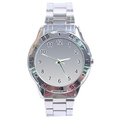 Roman Silver To Gainsboro Gradient Stainless Steel Watch (men s) by BestCustomGiftsForYou