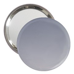 Roman Silver To Gainsboro Gradient 3  Handbag Mirror by BestCustomGiftsForYou