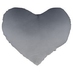 Roman Silver To Gainsboro Gradient 19  Premium Heart Shape Cushion by BestCustomGiftsForYou