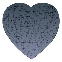 Charcoal To Cool Gray Gradient Jigsaw Puzzle (heart) by BestCustomGiftsForYou