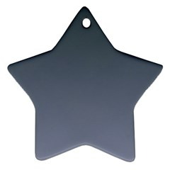Charcoal To Cool Gray Gradient Star Ornament (two Sides) by BestCustomGiftsForYou