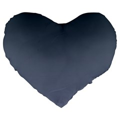 Charcoal To Cool Gray Gradient 19  Premium Heart Shape Cushion by BestCustomGiftsForYou