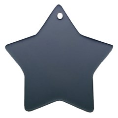 Cool Gray To Charcoal Gradient Star Ornament by BestCustomGiftsForYou