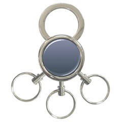 Cool Gray To Charcoal Gradient 3 Ring Key Chain by BestCustomGiftsForYou