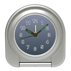 Cool Gray To Charcoal Gradient Desk Alarm Clock by BestCustomGiftsForYou