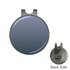 Cool Gray To Charcoal Gradient Hat Clip With Golf Ball Marker by BestCustomGiftsForYou