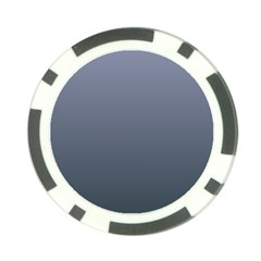 Cool Gray To Charcoal Gradient Poker Chip by BestCustomGiftsForYou