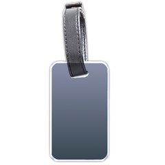 Cool Gray To Charcoal Gradient Luggage Tag (one Side) by BestCustomGiftsForYou
