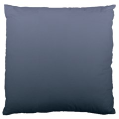 Cool Gray To Charcoal Gradient Large Cushion Case (two Sides) by BestCustomGiftsForYou