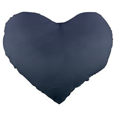 Cool Gray To Charcoal Gradient 19  Premium Heart Shape Cushion by BestCustomGiftsForYou