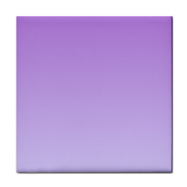 Lavender To Pale Lavender Gradient Ceramic Tile