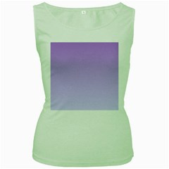 Lavender To Pale Lavender Gradient Womens  Tank Top (Green)
