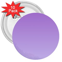 Lavender To Pale Lavender Gradient 3  Button (10 Pack)