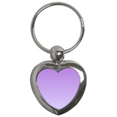 Lavender To Pale Lavender Gradient Key Chain (heart) by BestCustomGiftsForYou