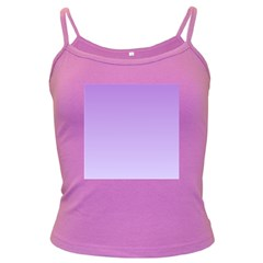 Lavender To Pale Lavender Gradient Spaghetti Top (colored) by BestCustomGiftsForYou