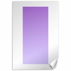 Lavender To Pale Lavender Gradient Canvas 24  X 36  (unframed) by BestCustomGiftsForYou