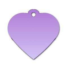 Lavender To Pale Lavender Gradient Dog Tag Heart (one Sided)  by BestCustomGiftsForYou