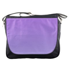 Lavender To Pale Lavender Gradient Messenger Bag by BestCustomGiftsForYou