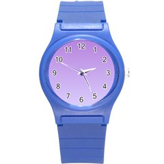 Lavender To Pale Lavender Gradient Plastic Sport Watch (small)