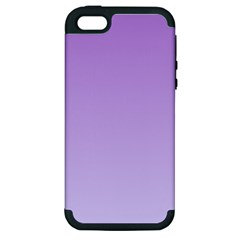 Lavender To Pale Lavender Gradient Apple Iphone 5 Hardshell Case (pc+silicone) by BestCustomGiftsForYou