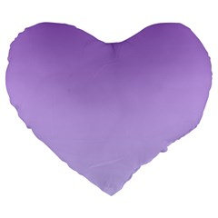 Lavender To Pale Lavender Gradient 19  Premium Heart Shape Cushion by BestCustomGiftsForYou