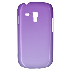 Lavender To Pale Lavender Gradient Samsung Galaxy S3 Mini I8190 Hardshell Case by BestCustomGiftsForYou