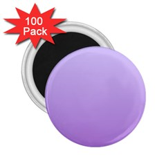 Pale Lavender To Lavender Gradient 2 25  Button Magnet (100 Pack) by BestCustomGiftsForYou