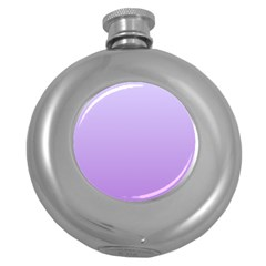 Pale Lavender To Lavender Gradient Hip Flask (round) by BestCustomGiftsForYou