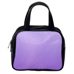 Pale Lavender To Lavender Gradient Classic Handbag (one Side) by BestCustomGiftsForYou