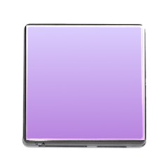 Pale Lavender To Lavender Gradient Memory Card Reader With Storage (square) by BestCustomGiftsForYou