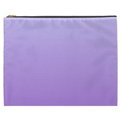 Pale Lavender To Lavender Gradient Cosmetic Bag (xxxl) by BestCustomGiftsForYou
