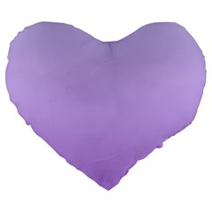 Pale Lavender To Lavender Gradient 19  Premium Heart Shape Cushion by BestCustomGiftsForYou