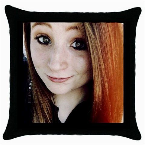 Mallory Black Pillow By Cindy   Throw Pillow Case (black)   Oirhsom6snvd   Www Artscow Com Front