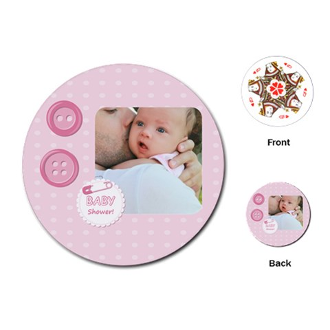 Baby By Baby   Playing Cards (round)   Tklvtvi11llh   Www Artscow Com Front