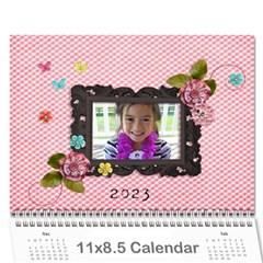 Wall Calendar 11 X 8 5    Pink Sweet Life By Jennyl   Wall Calendar 11  X 8 5  (12 Months)   Iyoyev4a4z7d   Www Artscow Com Cover