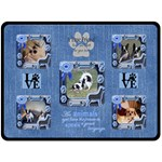 Dog lover s large blanket - Fleece Blanket (Large)