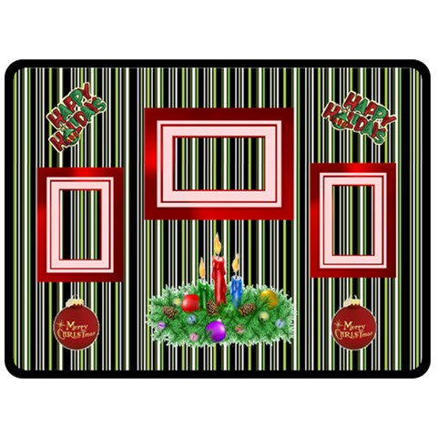 Happy Holidays Large Blanket By Joy Johns   Fleece Blanket (large)   Nd0vbysc340y   Www Artscow Com 80 x60 Blanket Front