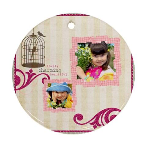 Kids By Kids   Ornament (round)   8y330u2wunnq   Www Artscow Com Front