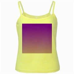 Violet To Wisteria Gradient Yellow Spaghetti Tank by BestCustomGiftsForYou