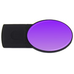 Violet To Wisteria Gradient 2gb Usb Flash Drive (oval) by BestCustomGiftsForYou