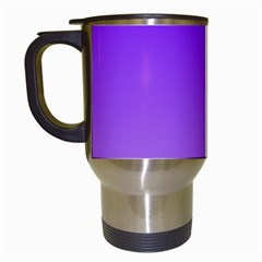 Violet To Wisteria Gradient Travel Mug (white) by BestCustomGiftsForYou