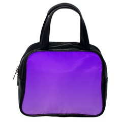 Violet To Wisteria Gradient Classic Handbag (one Side) by BestCustomGiftsForYou