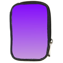 Violet To Wisteria Gradient Compact Camera Leather Case by BestCustomGiftsForYou