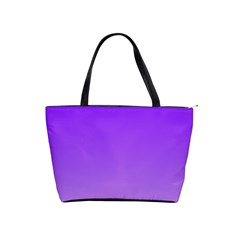 Violet To Wisteria Gradient Large Shoulder Bag by BestCustomGiftsForYou