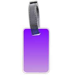 Violet To Wisteria Gradient Luggage Tag (one Side) by BestCustomGiftsForYou