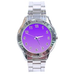 Violet To Wisteria Gradient Stainless Steel Watch (men s) by BestCustomGiftsForYou