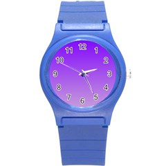 Violet To Wisteria Gradient Plastic Sport Watch (small) by BestCustomGiftsForYou